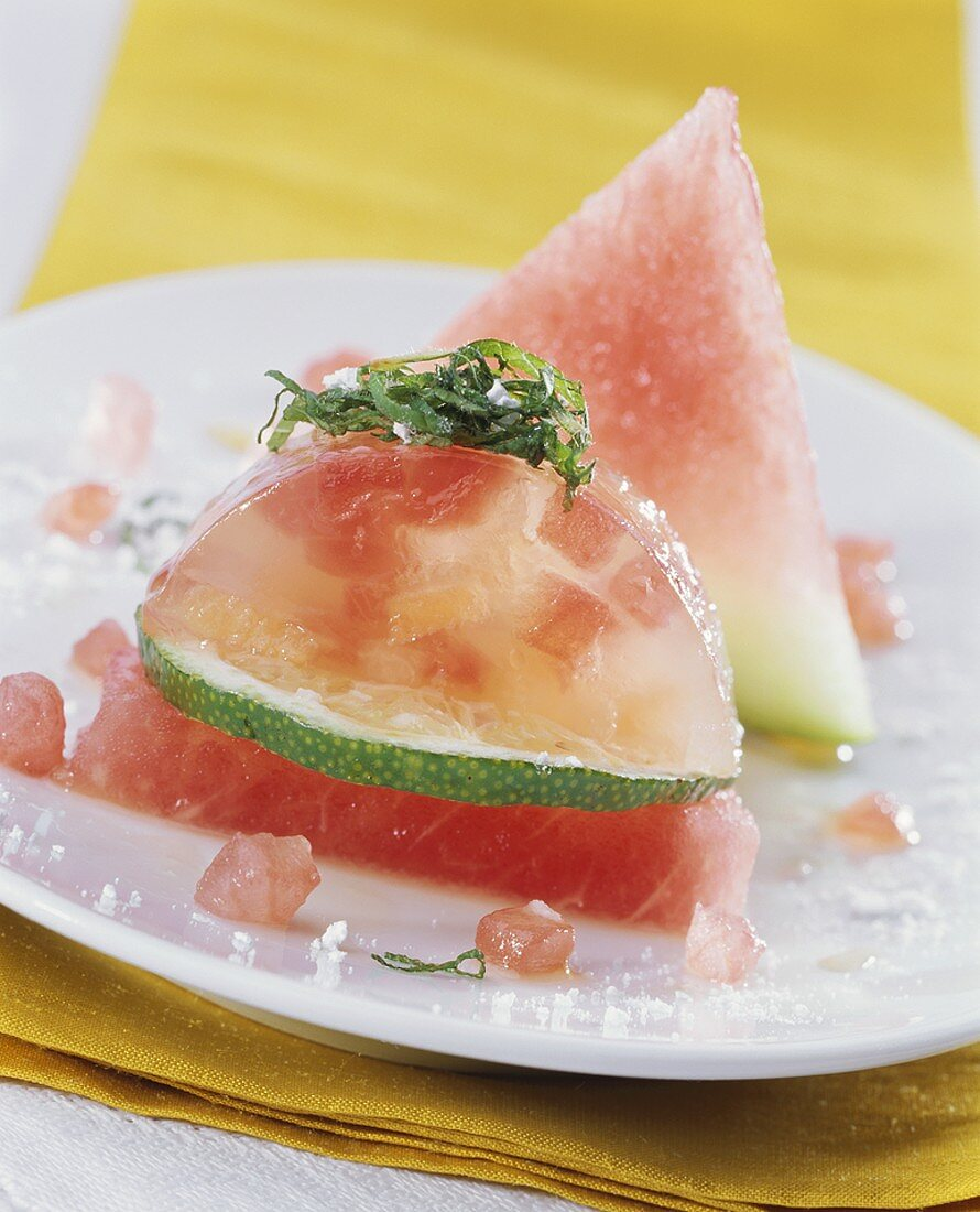 Melon and lime jelly