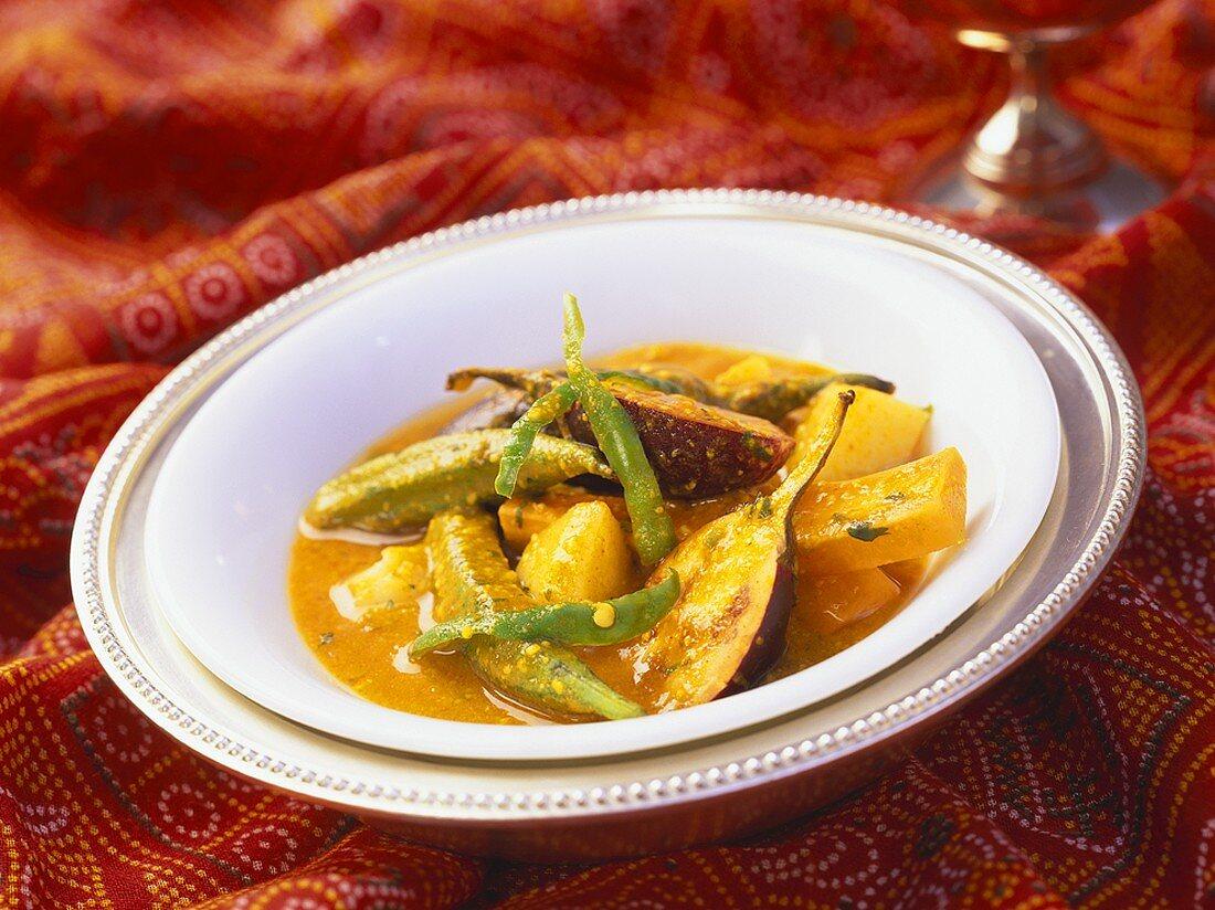 Sindhi Besan Ka Curry (Sindhi-style curry, India)