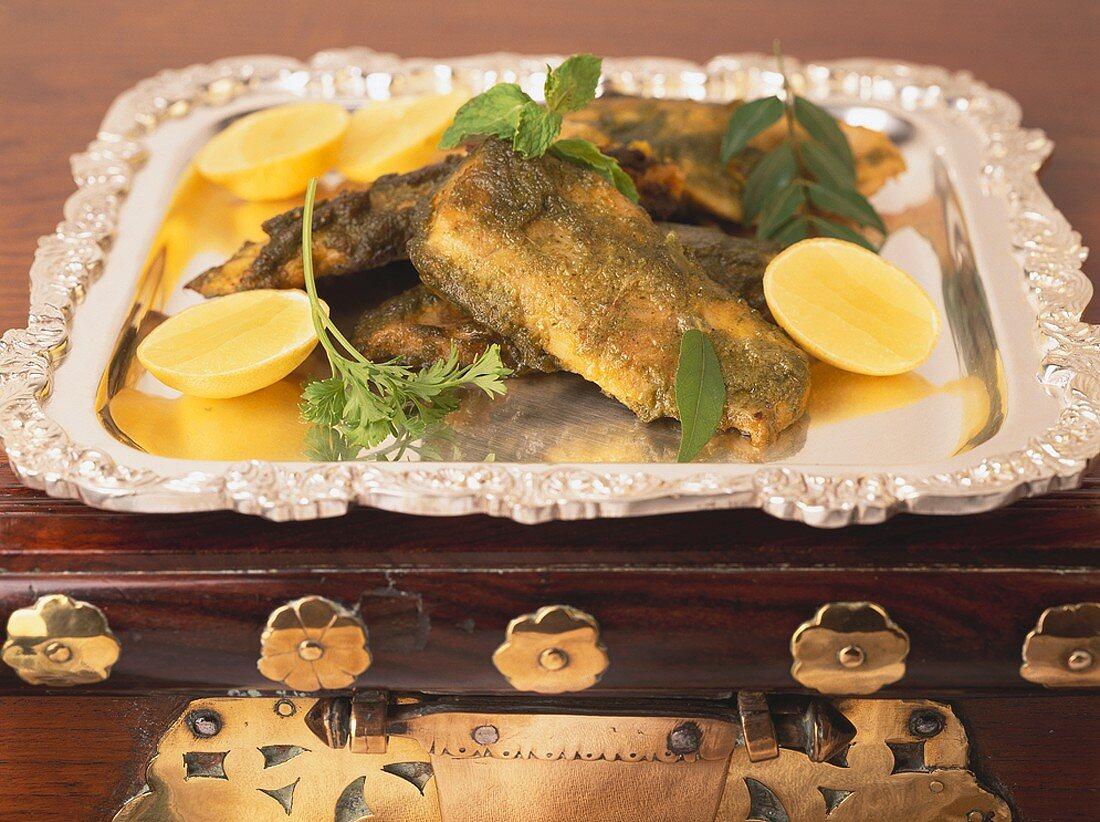 Bhopali Hare Masale Ki Macchli (Indian fish dish with herbs)