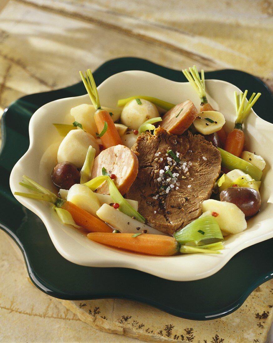 Pot au feu (Beef and vegetable stew)