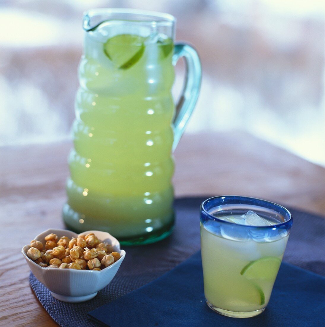Barley water and chick-pea nibbles