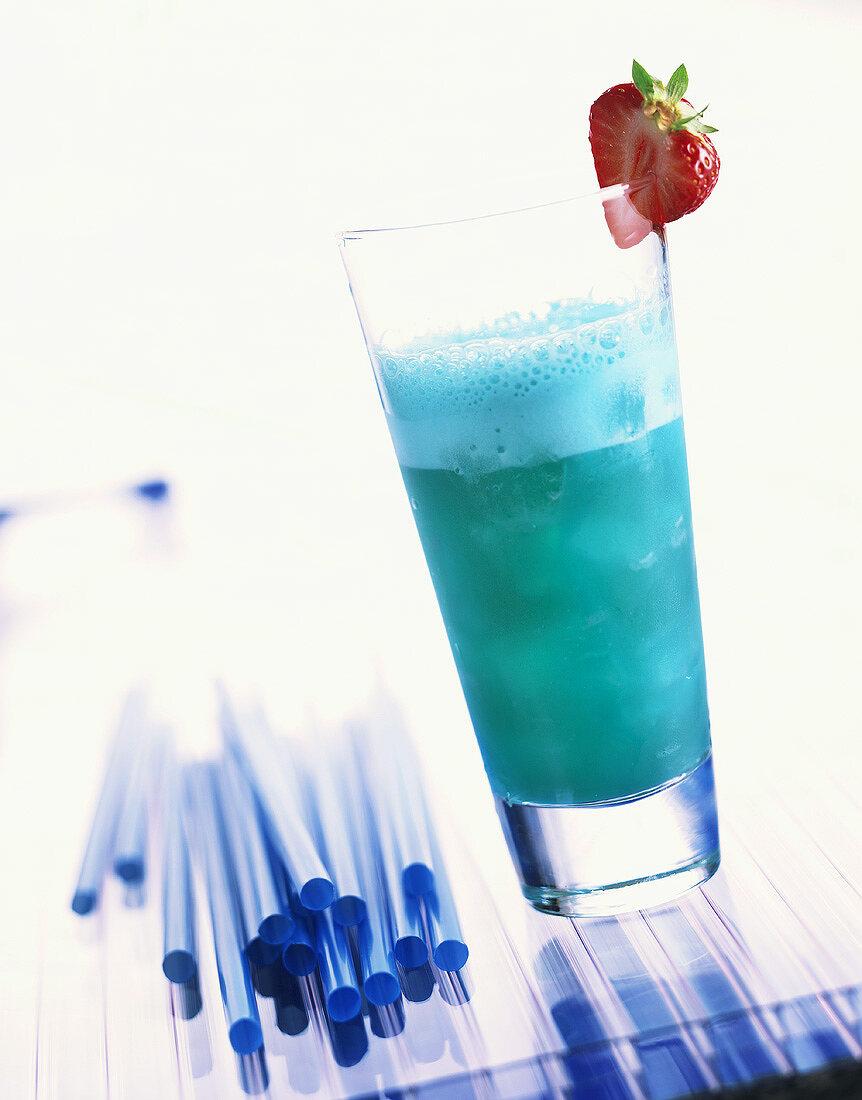 Blue Sky: cocktail made with non-alcoholic Blue Curaçao