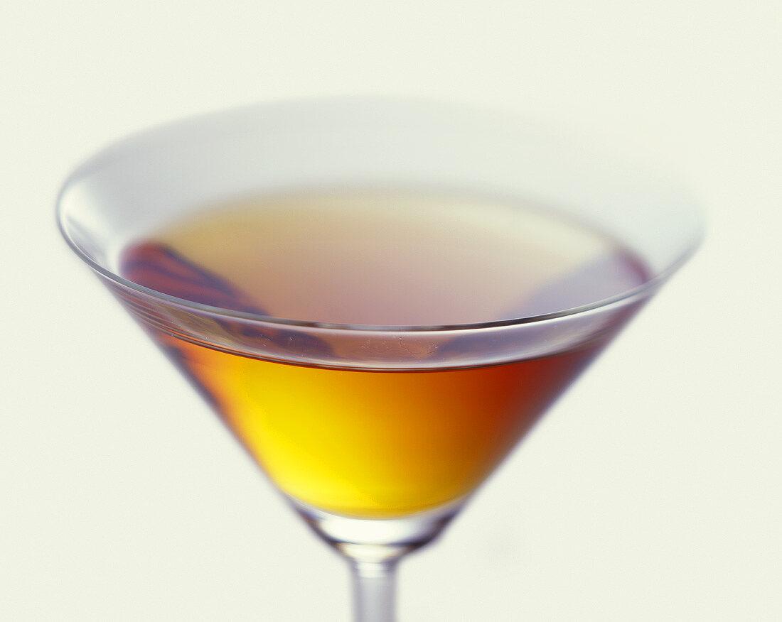 Aperitif in Martini glass