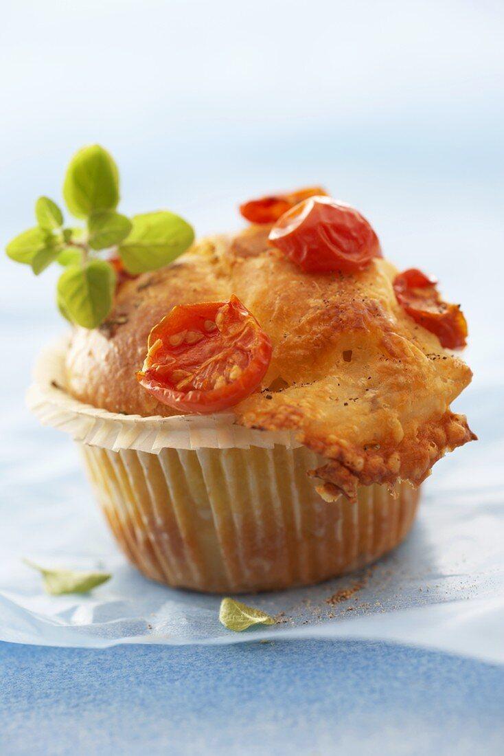 Mozzarella and tomato muffin