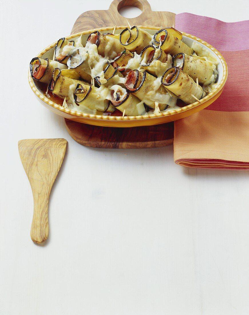 Involtini di melanzane (Aubergine rolls, Italy)