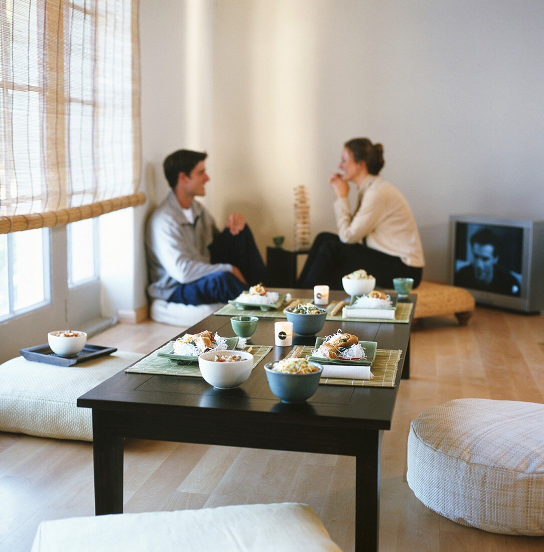 Couple in living room