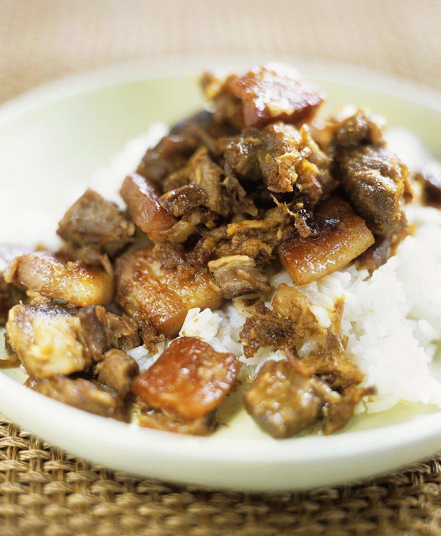 Filipino pork adobo (Marinated meat, Philippines)