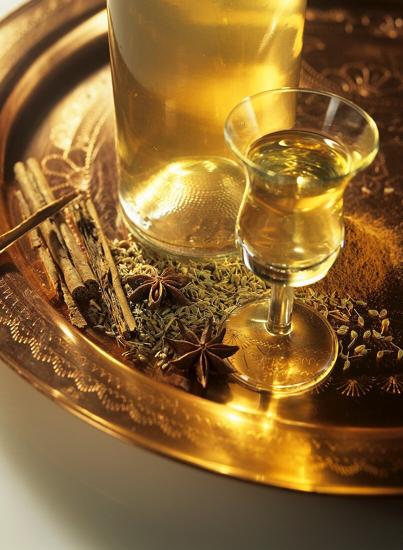 Home-made anise schnapps