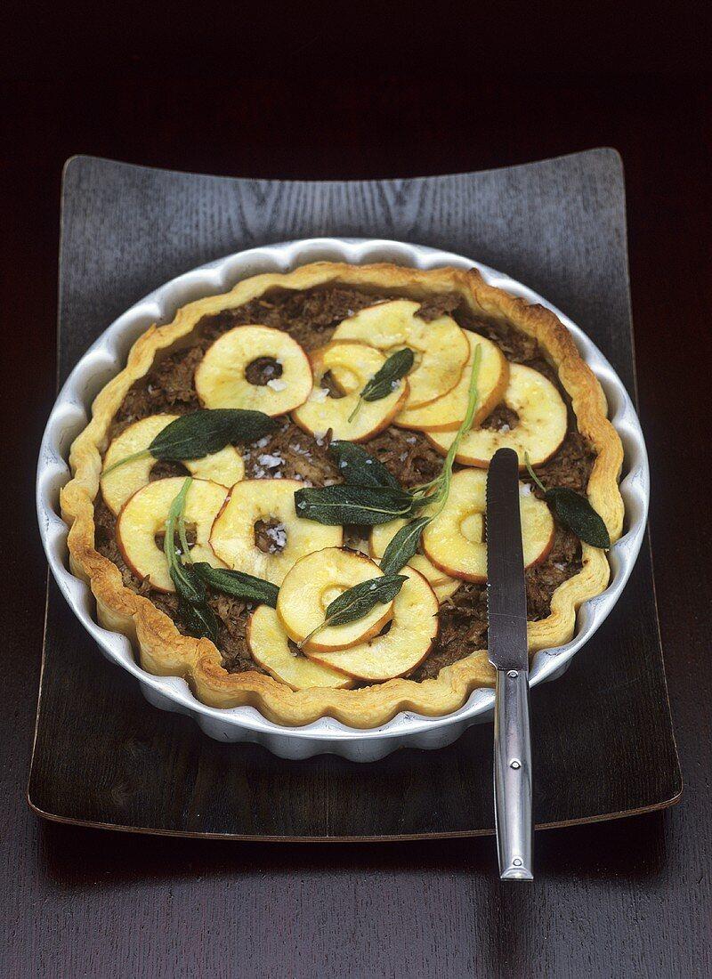 Goose rillettes and apple tart