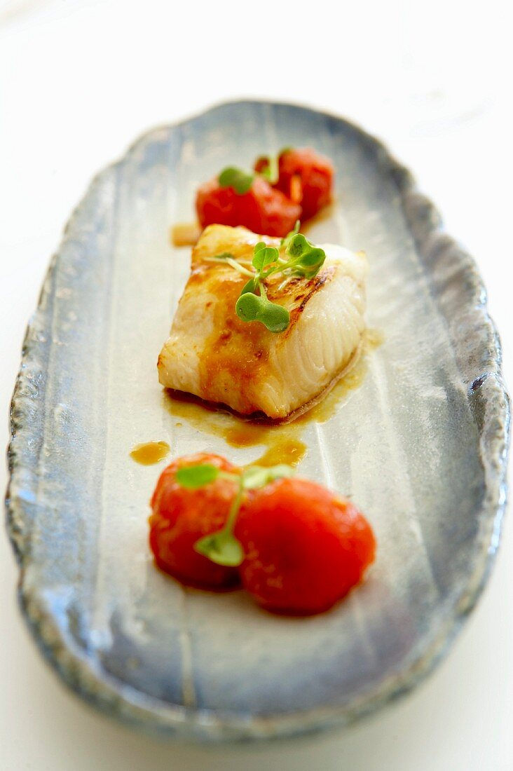 Blackcod with tomatoes