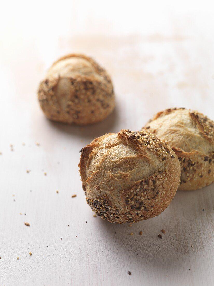 Three seeded rolls