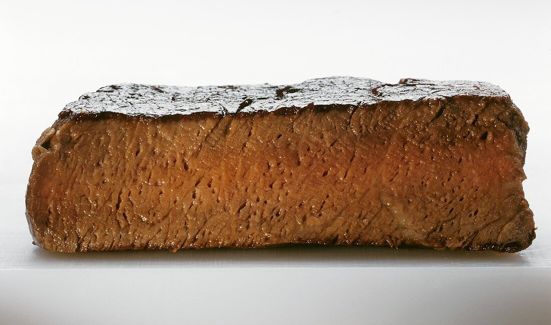 Cross Section of Well Done Steak