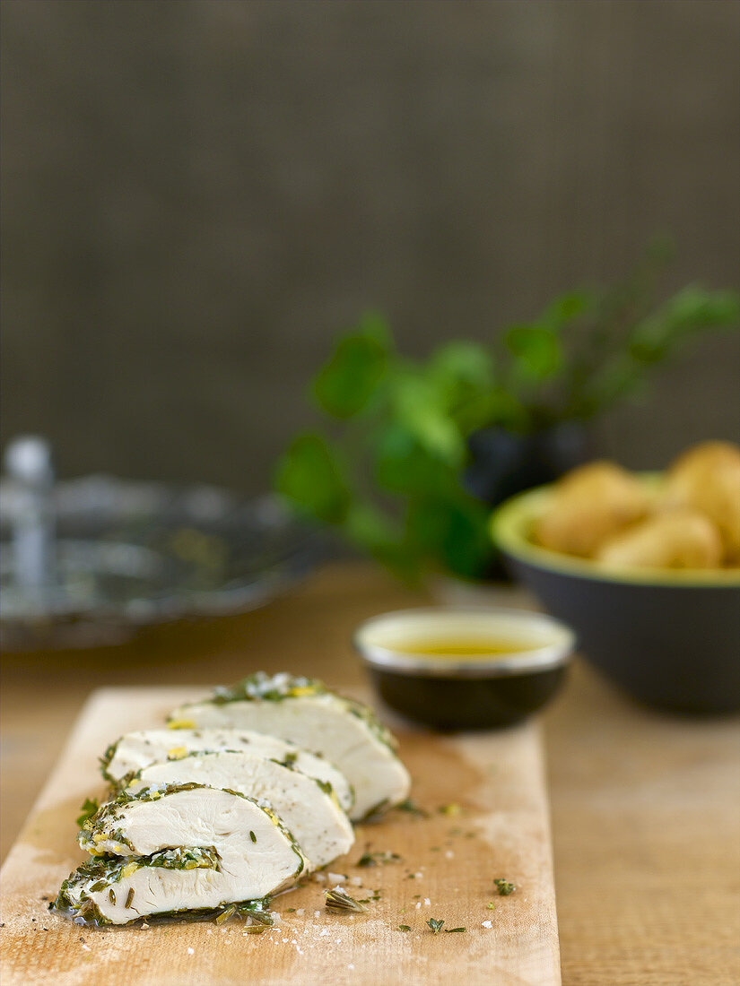 Chicken breast fillet with herb stuffing
