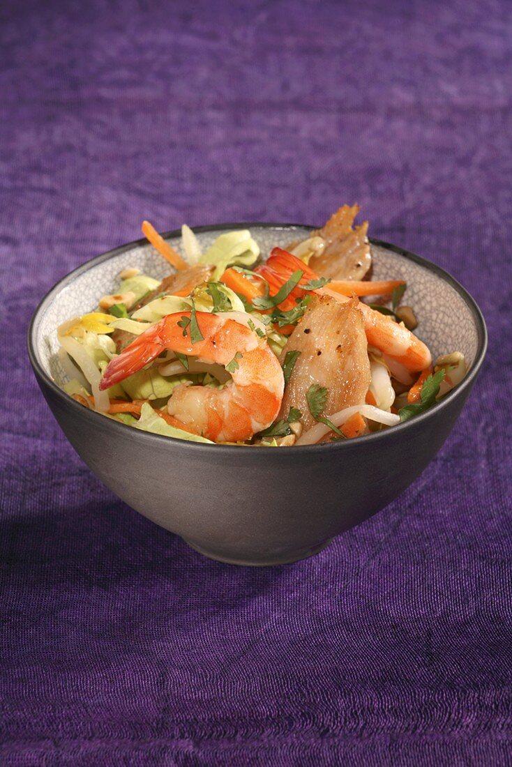 Prawn and vegetable salad