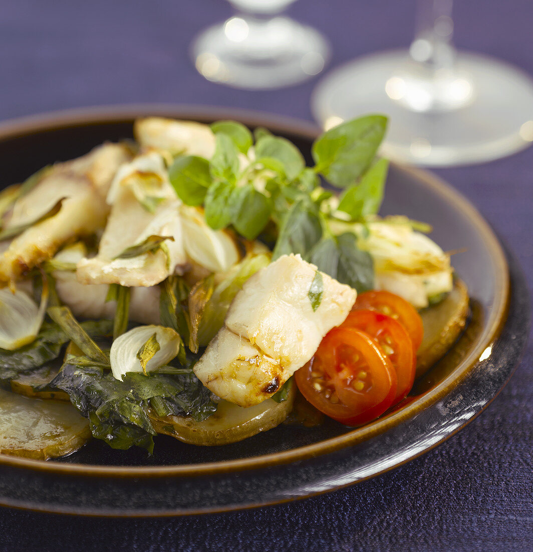 Fish palak (Fish and spinach dish, India)