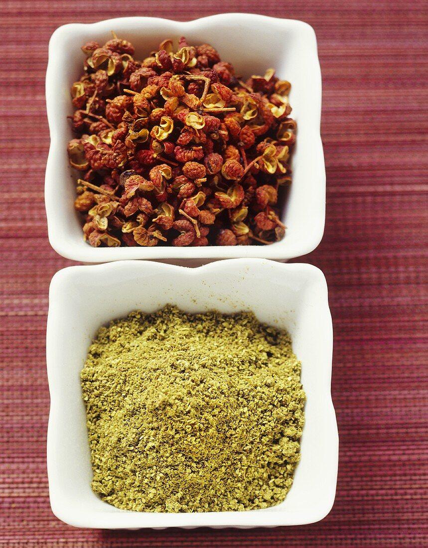 Sansho (Japanese pepper) and Sichuan pepper