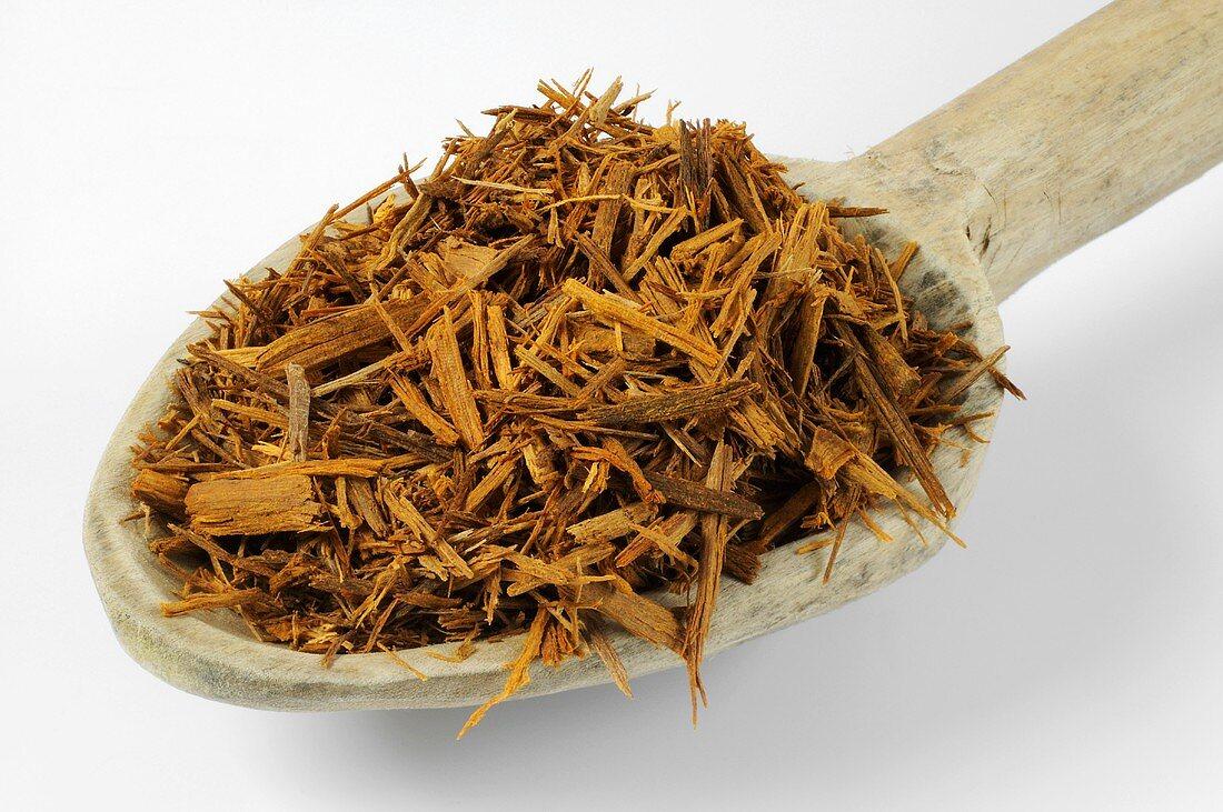 Redwood (Fernambuci) on a wooden spoon
