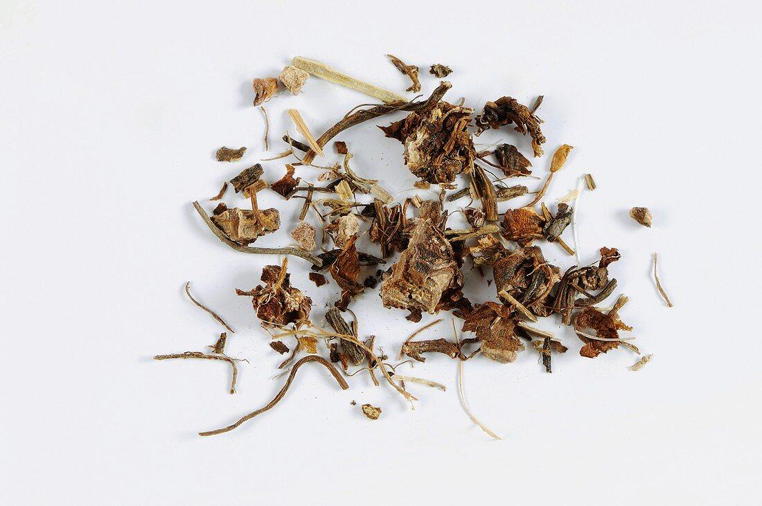 Dried herb bennet (Geum urbanum L.)