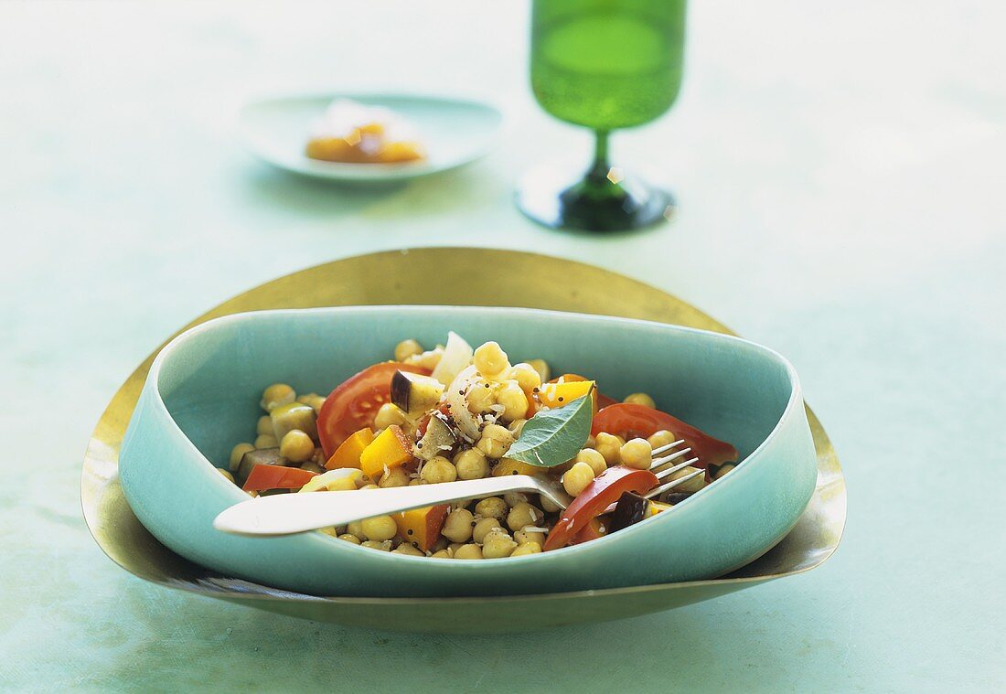 Chick-pea curry with pumpkin and tomato