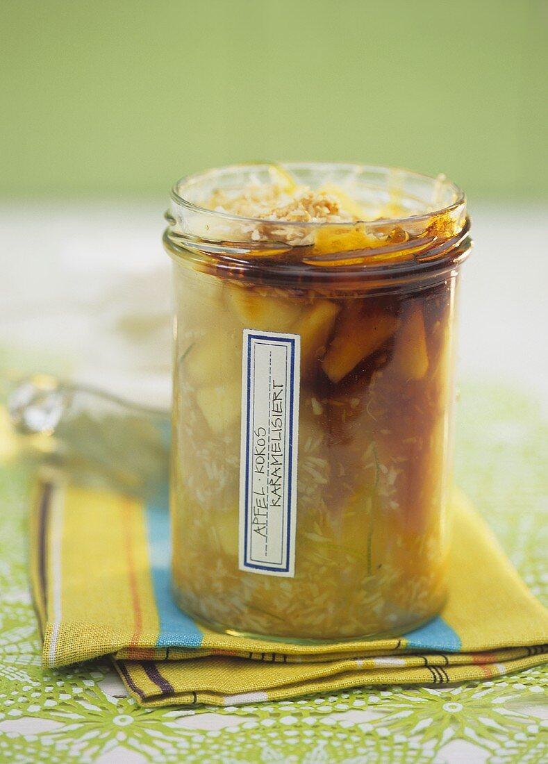 Caramelised apple and coconut jam