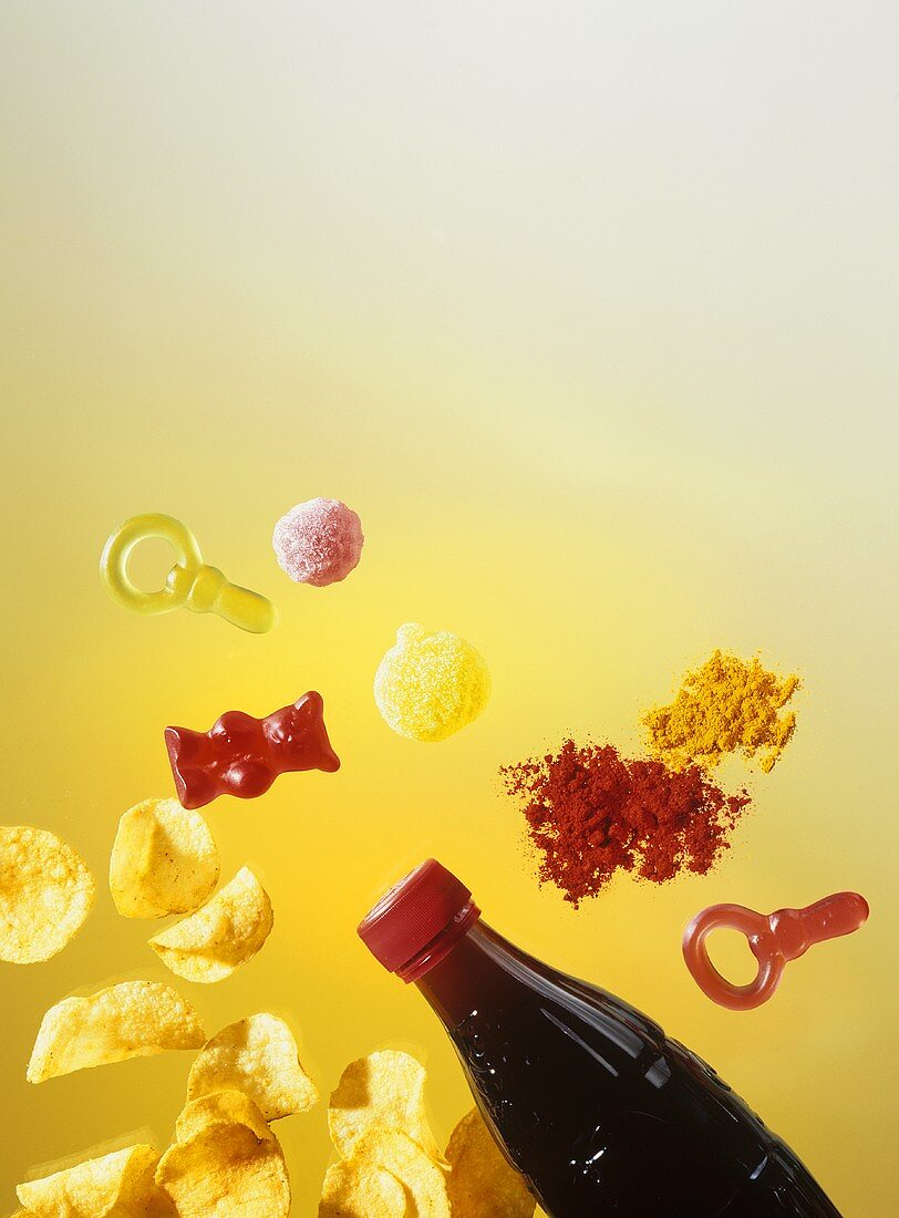 Unhealthy foods and food colouring