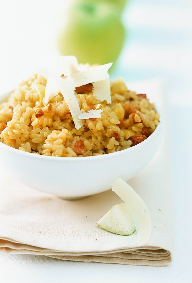 Sweet apple risotto