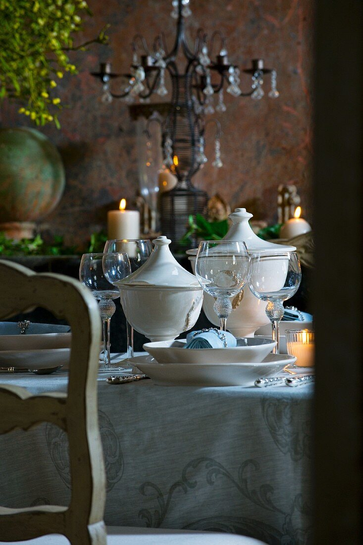 Table laid for special occasion (detail)