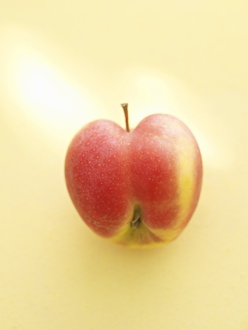 Heart-shaped red apple