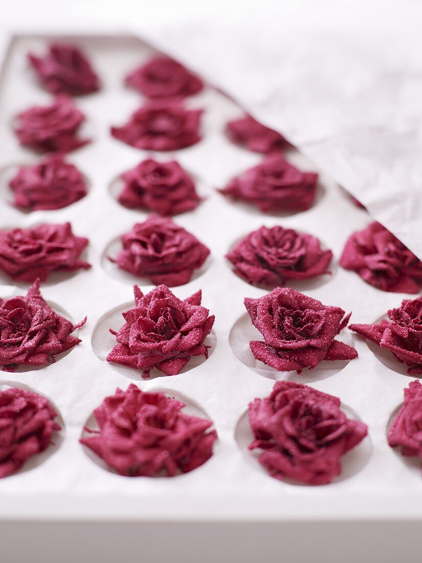 Candied roses