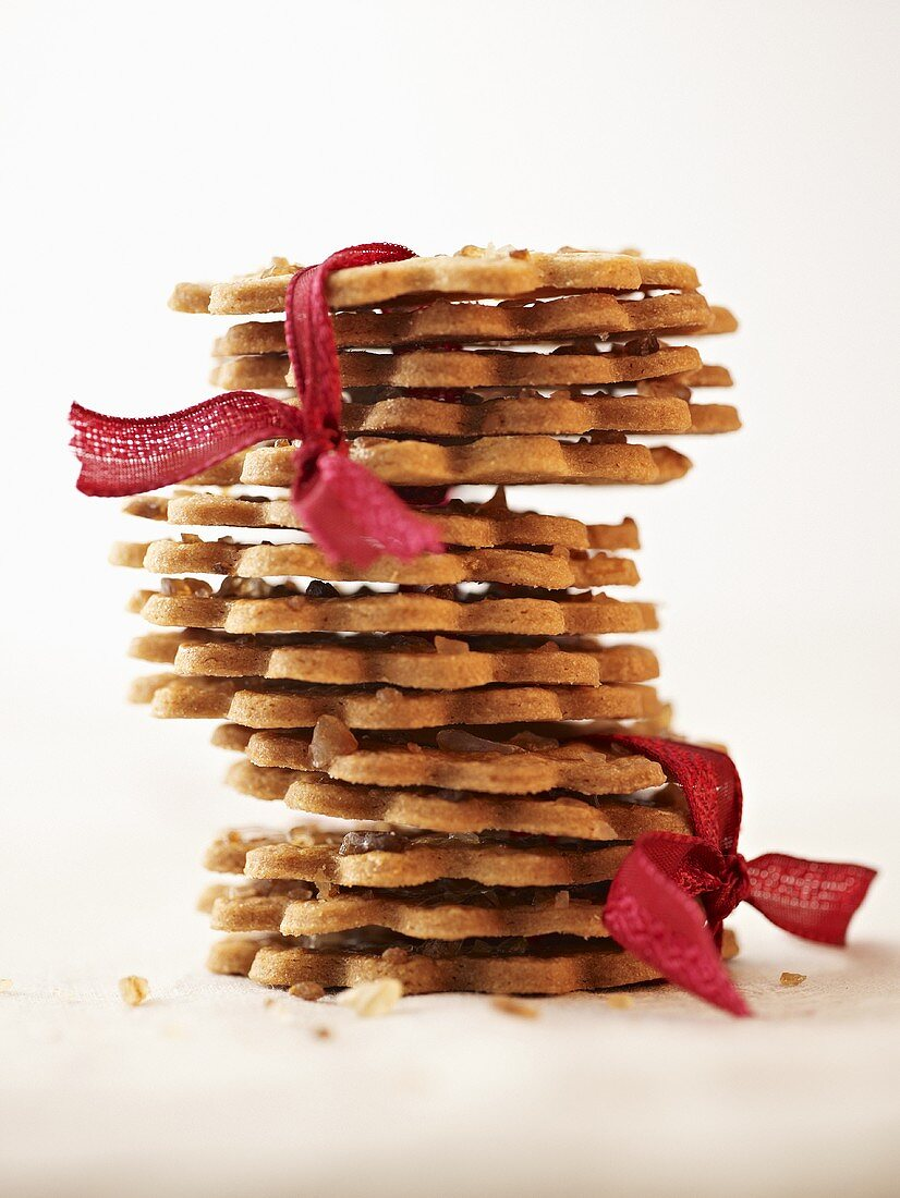 Ring biscuits, stacked