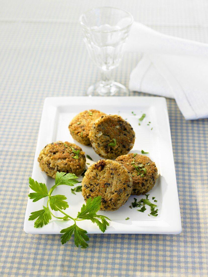 Vegetarian kibbeh (Middle Eastern bulgur & vegetable balls)