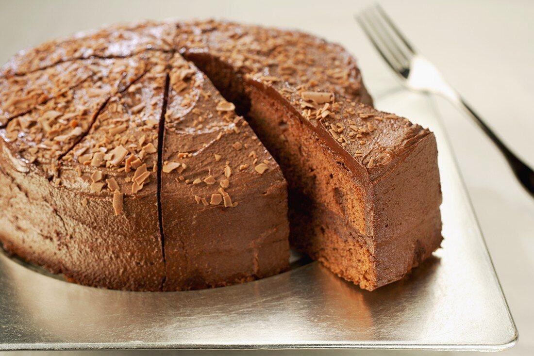 Chocolate fudge cake (Belgium)