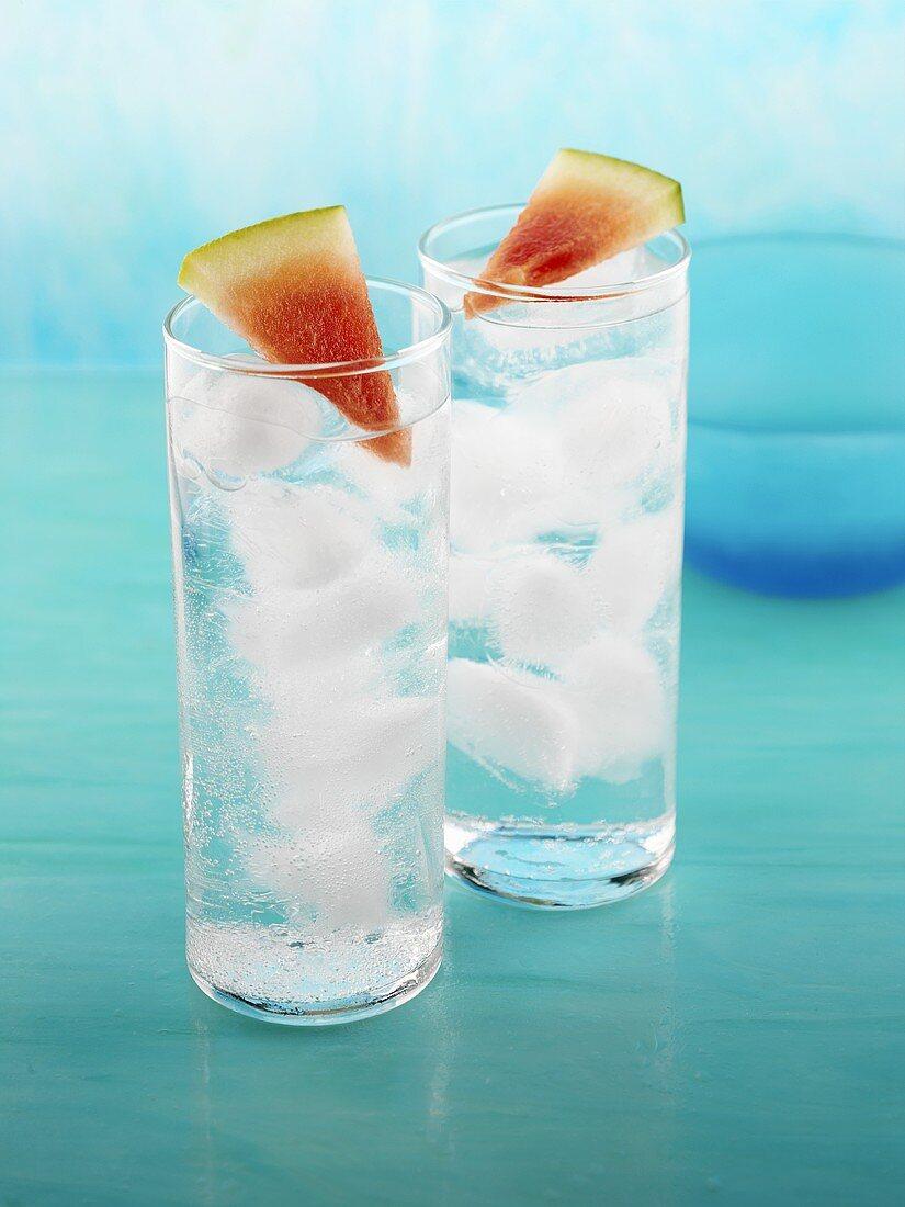 Twisted Watermelon Soda (Drink made with watermelon vodka & soda)