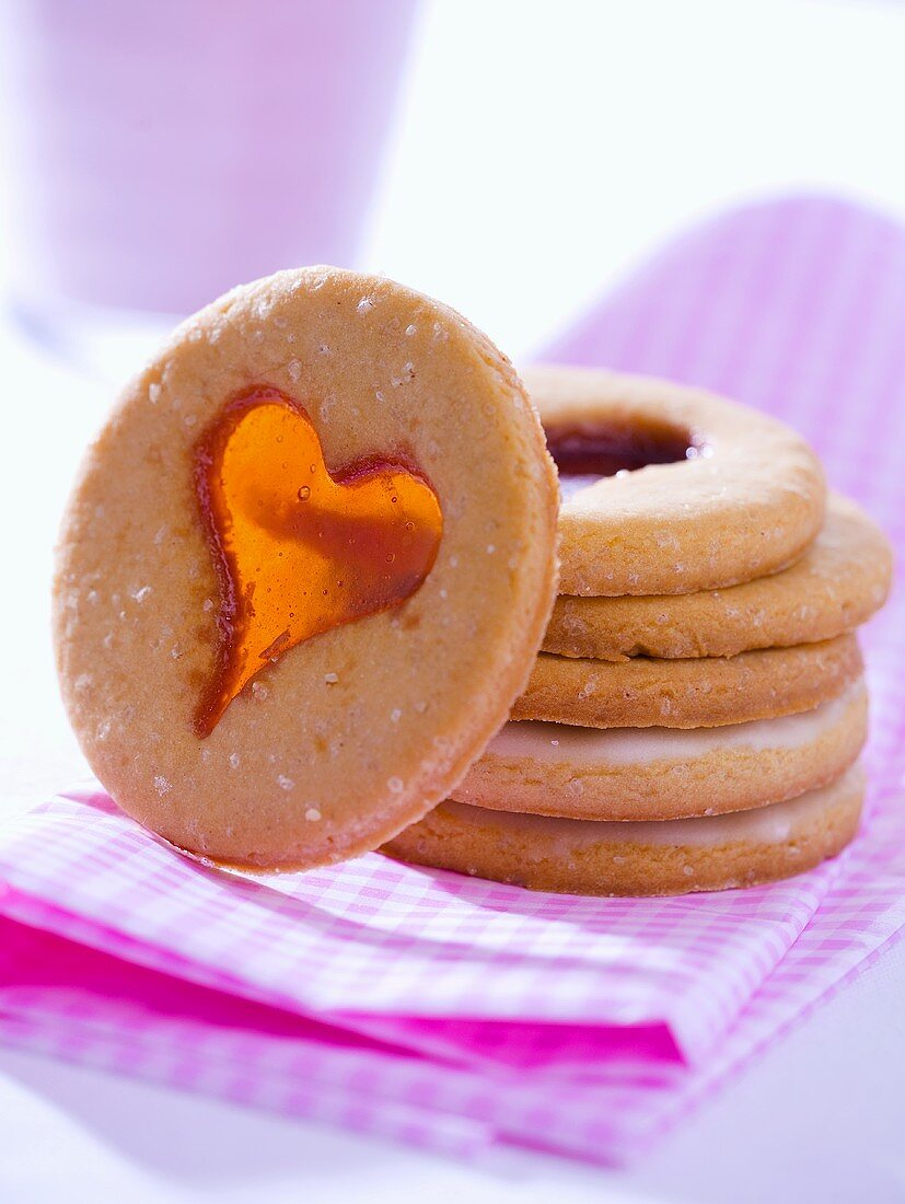 Window cookies (biscuits with candy windows)