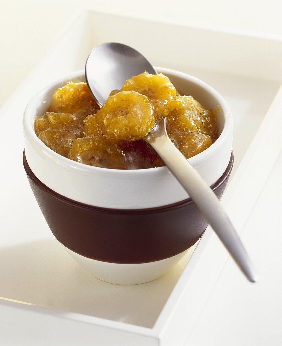 Banana and ginger jam