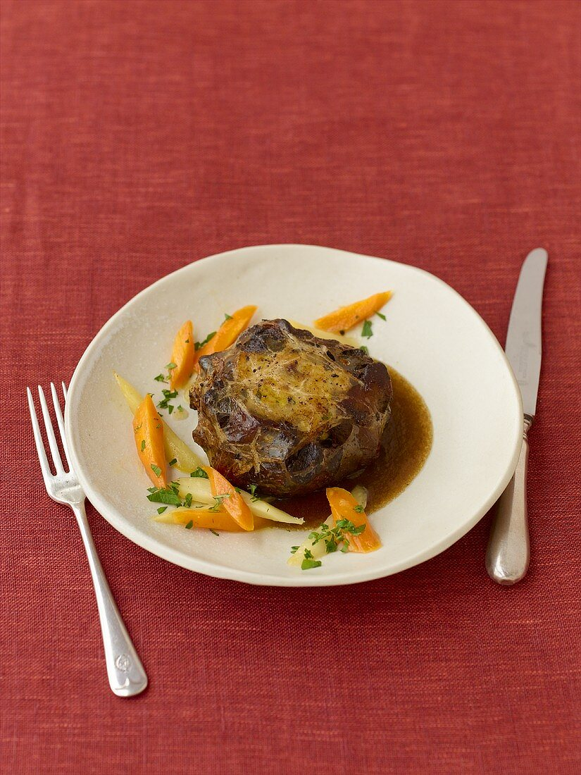 Oxtail with cep stuffing