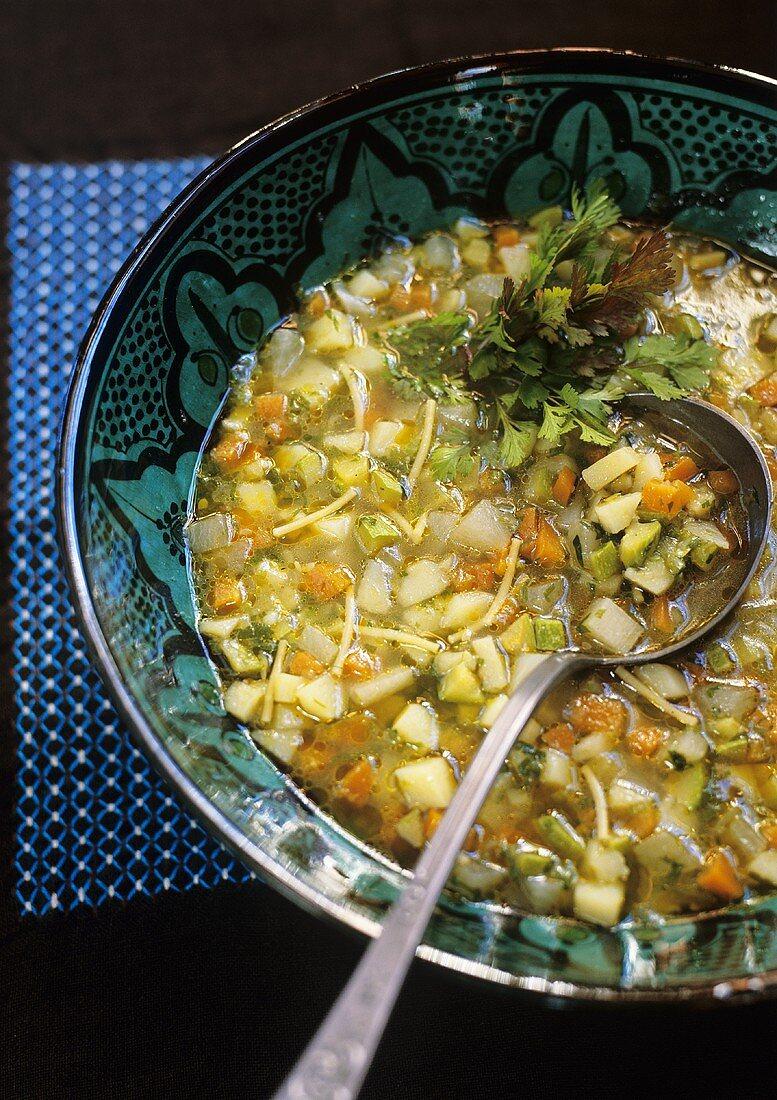 Chorba (Vegetable soup, Morocco)