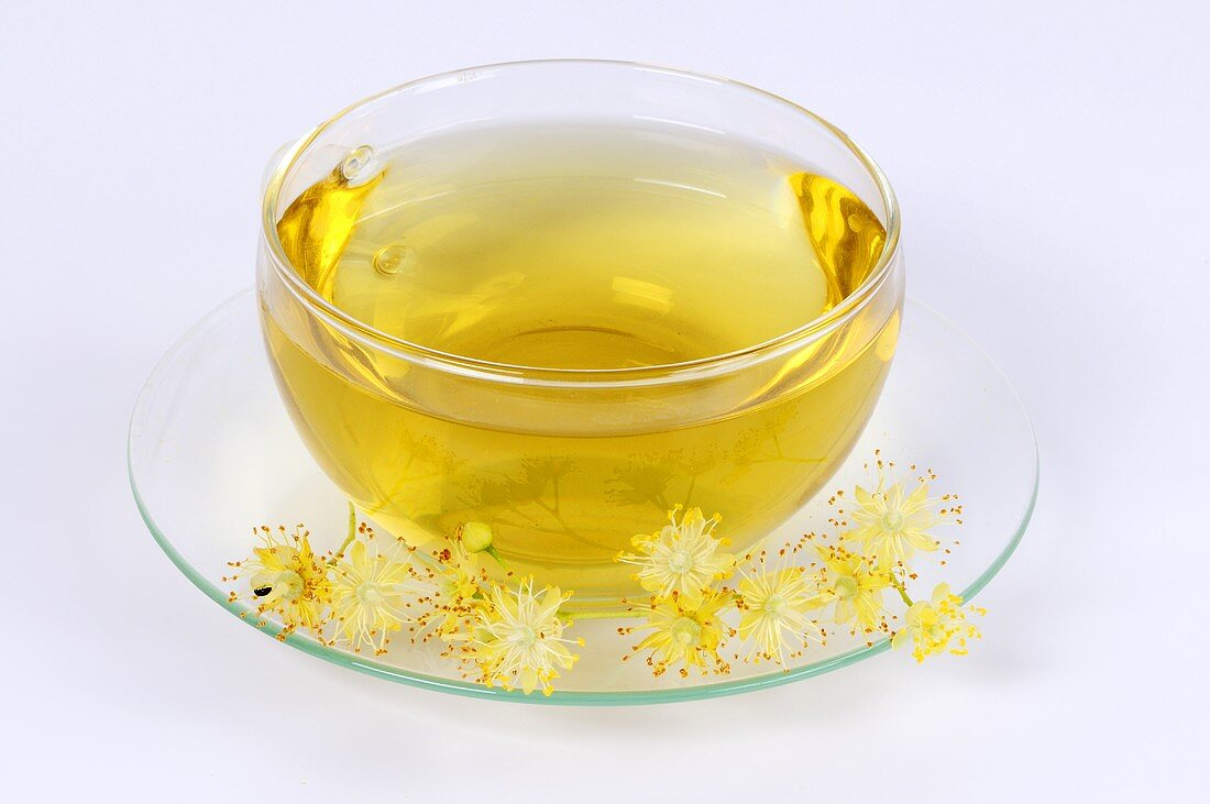 A cup of lime flower tea