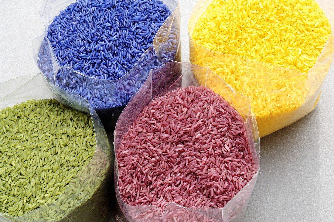 Coloured jasmine rice (Thailand)