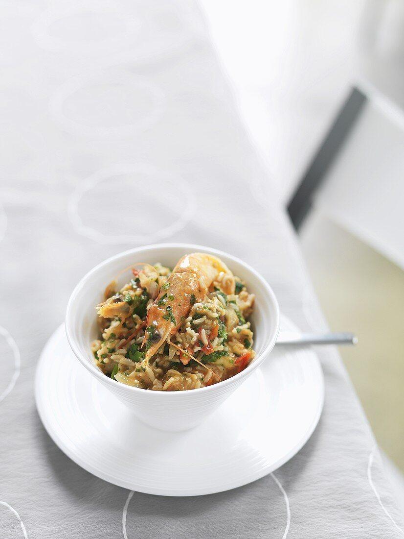 Gumbo (Shellfish stew with rice, USA)