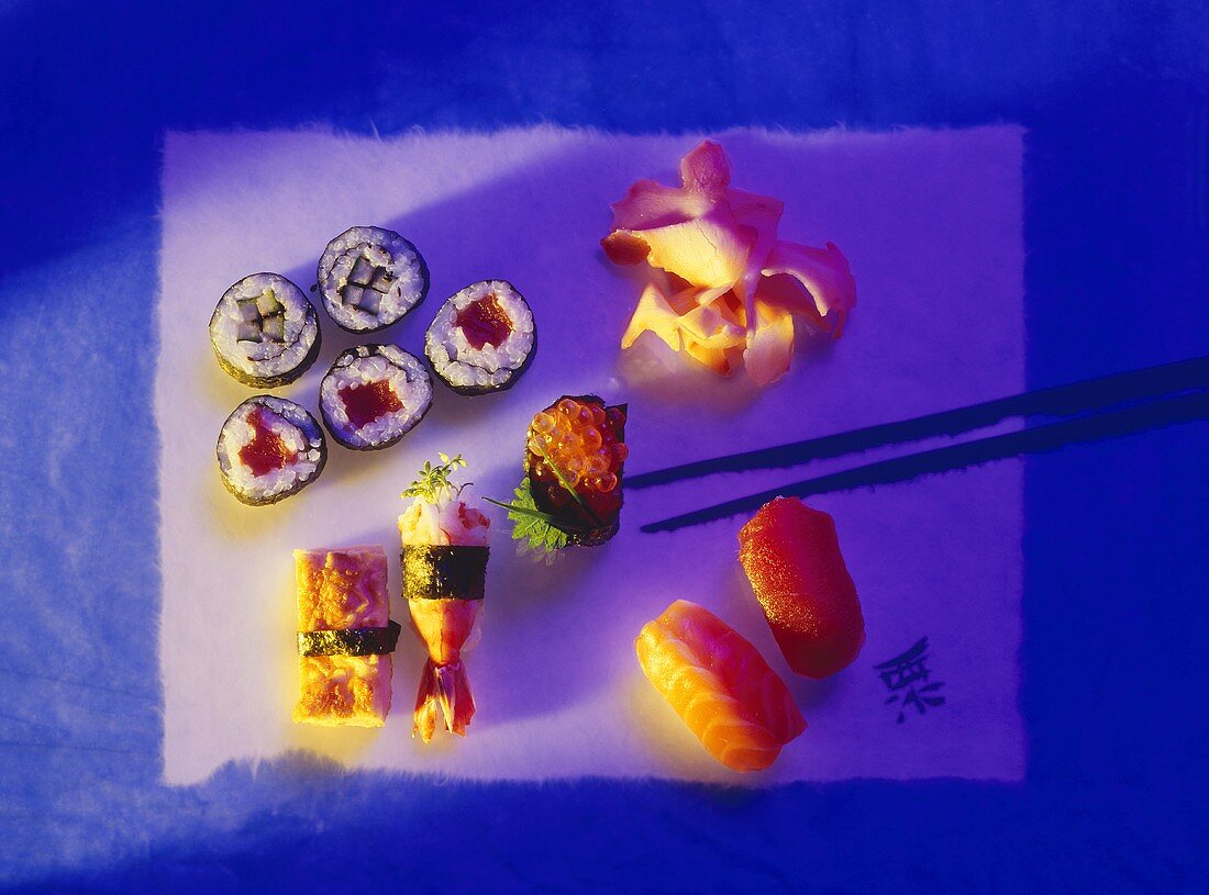 Assortment of Hand-rolled Sushi