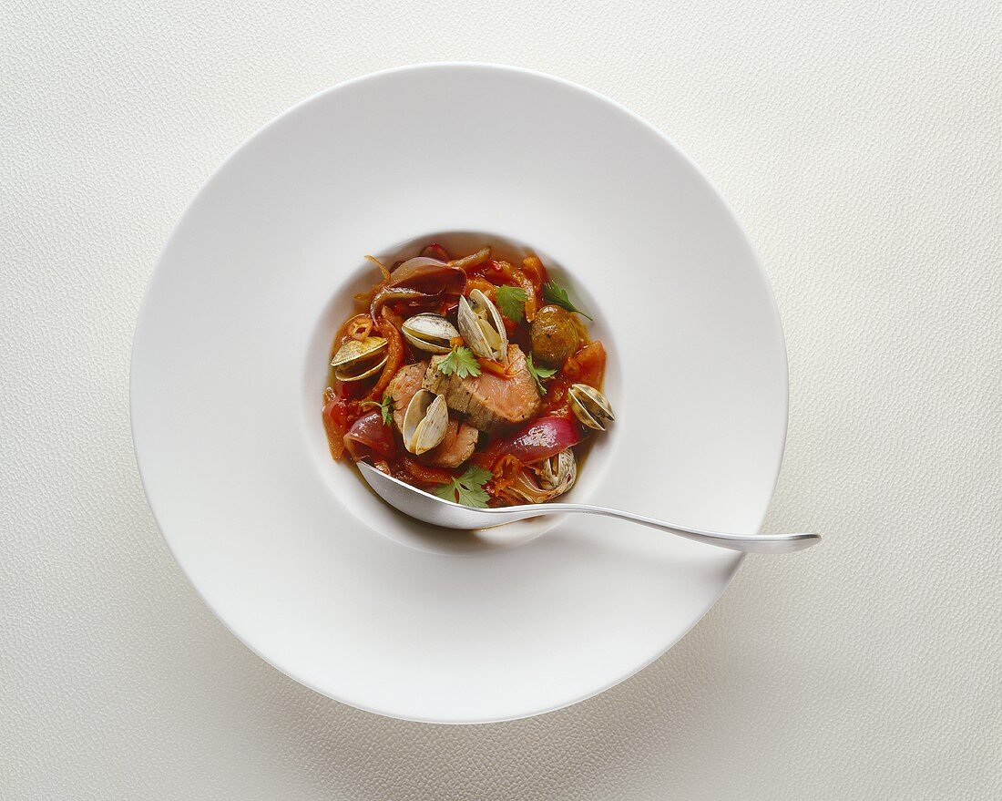 Cataplana (Shellfish and meat stew, Portugal)