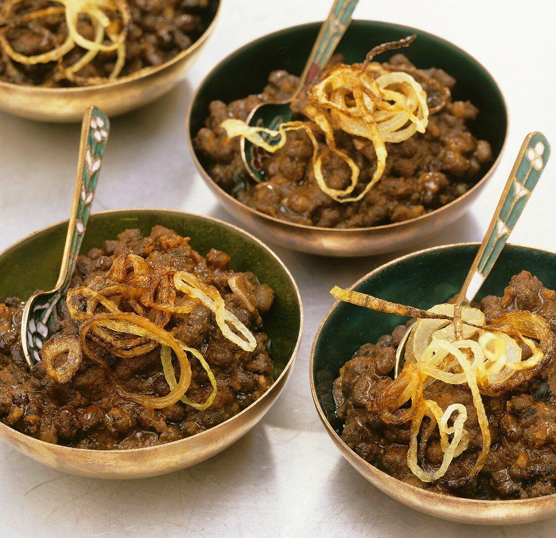 Black butter lentils (India)