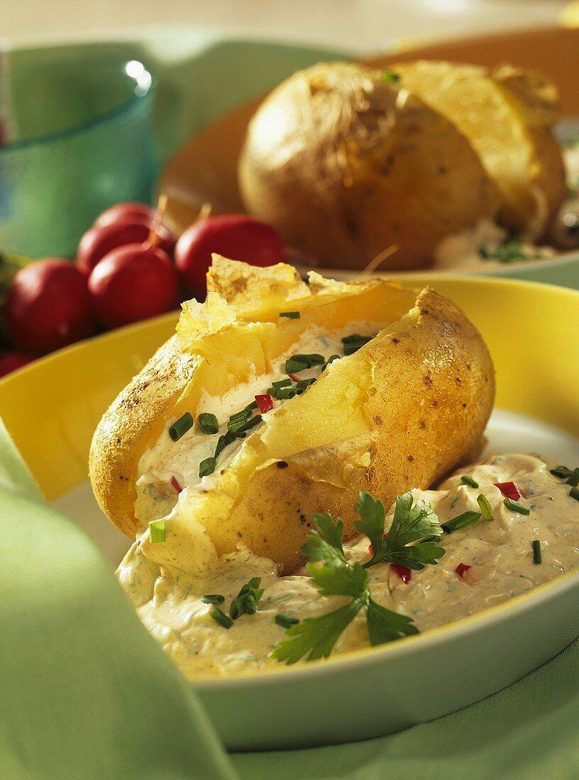 Potatoes with herb quark