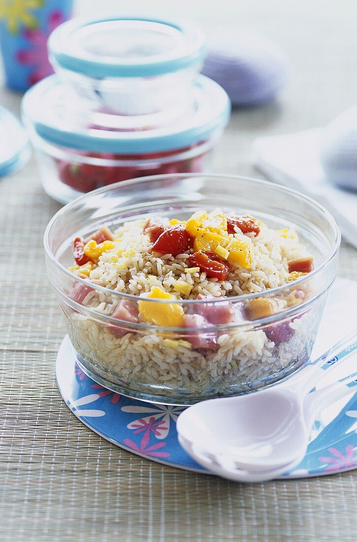 Rice salad with peppers
