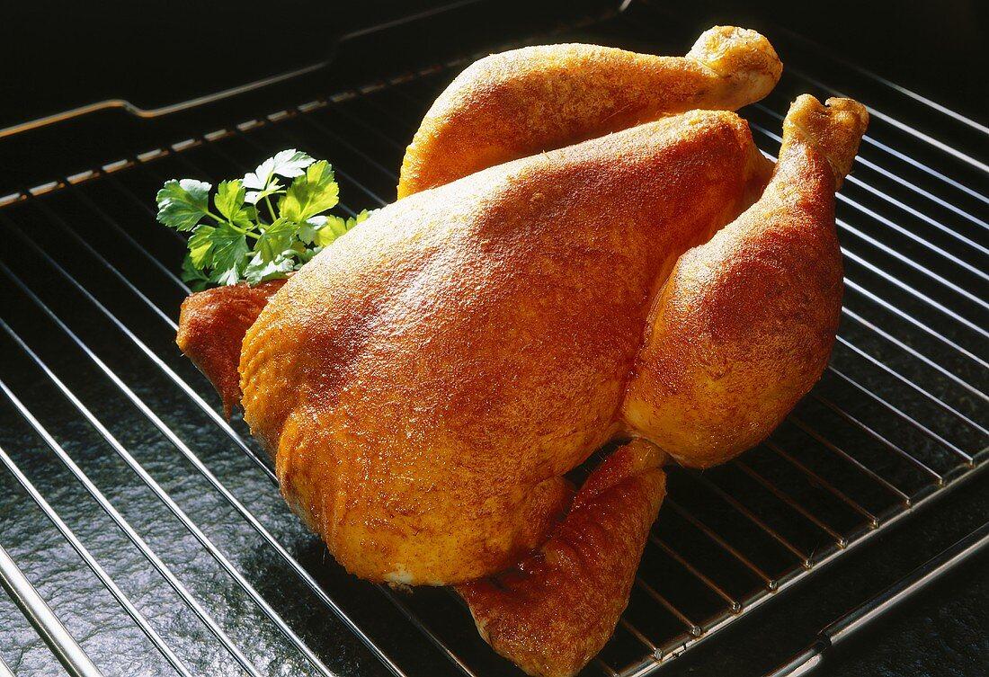 Roast chicken on oven rack