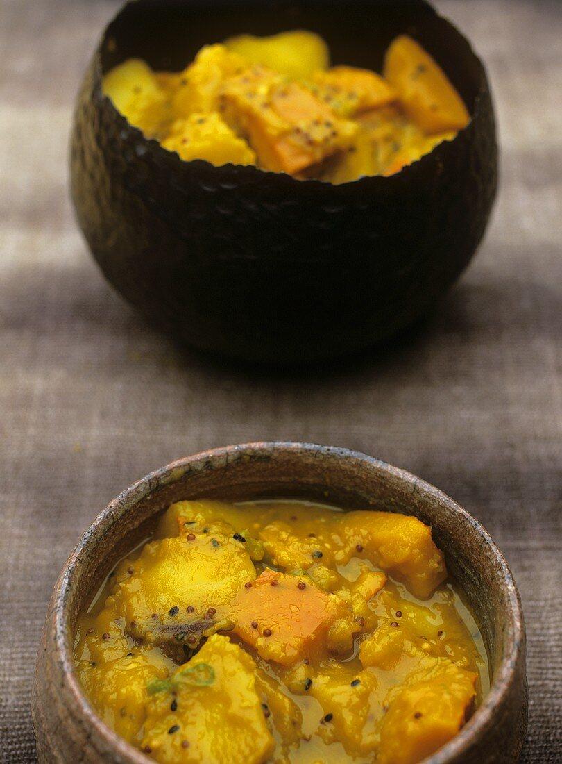 Potato and pumpkin curry
