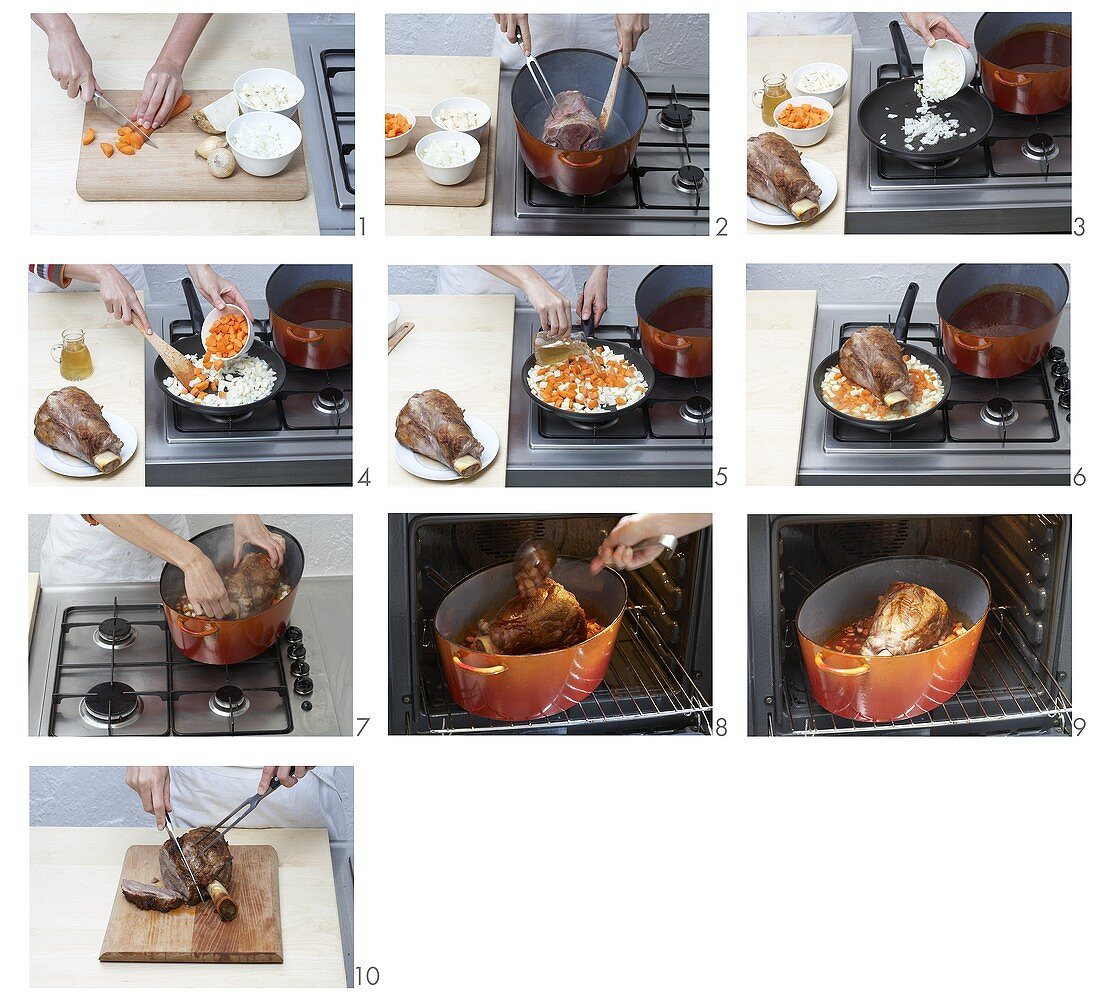 Cooking veal shank at low temperature