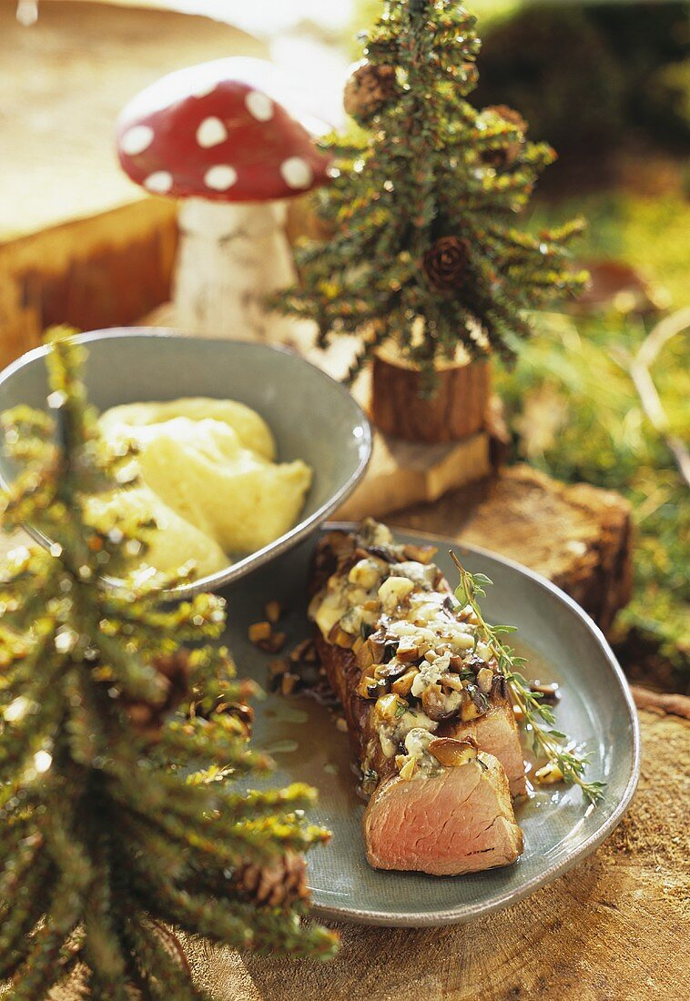 Veal fillet with a chestnut crust