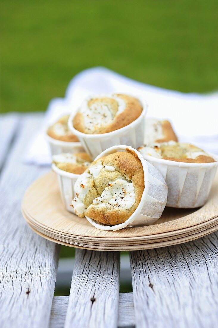 Goat's cheese muffins